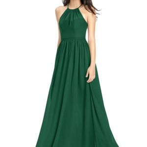 Azazie Kailyn Dark Green Bridesmaid Dress, Size 2